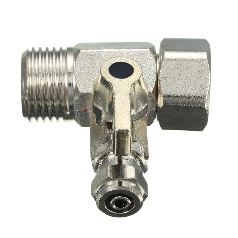 RO Feed Water Adapter 1/2'' To 1/4'' Faucet Water Filter Ball Valve Tap Tee Connector Valve For Hardware Tools