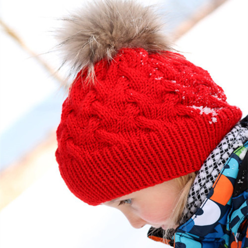 2017 New Winter Baby Girl Hat Cap Beanie, Kids Children Winter Braided Knitted Wool Hats Caps for Girls recien nacido knitted skullies cap the new winter all match thickened wool hat knitted cap children cap mz081