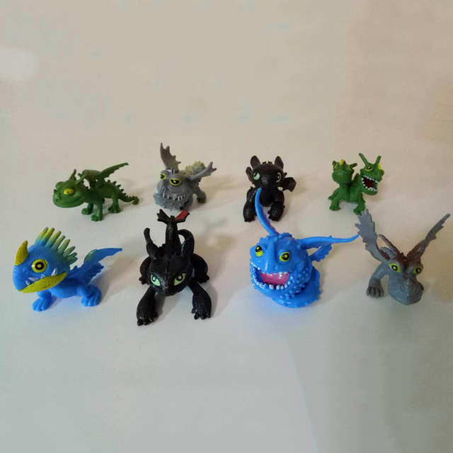 8pcsset mini loong how to train your dragon hiccup nightfury nadder 8pcsset mini loong how to train your dragon hiccup nightfury nadder monstrous nightmare dragon ccuart Images