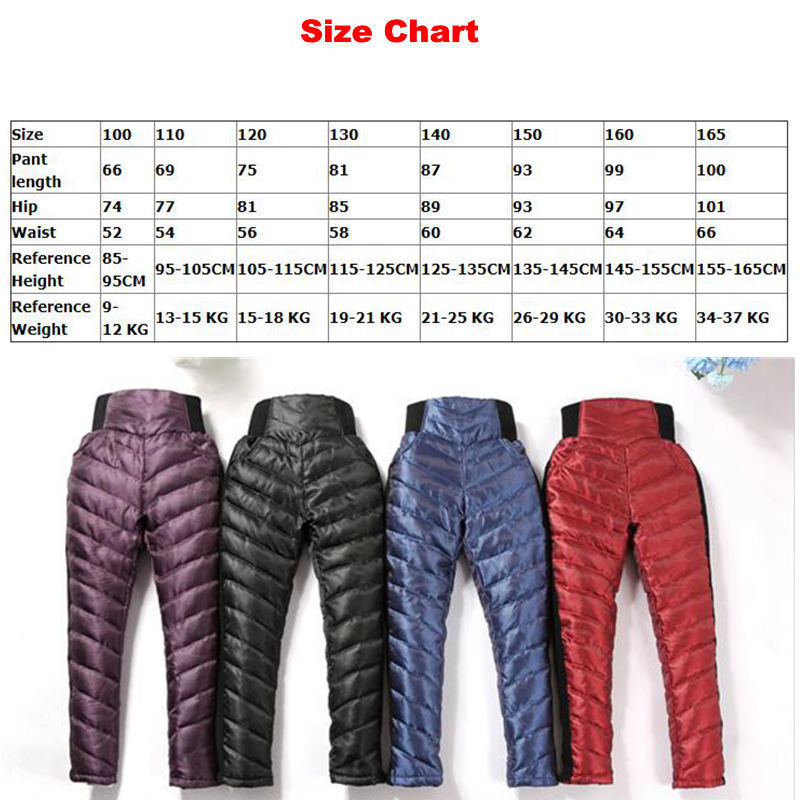 Image 5 - Fashion Kids Warm Pants Winter High Waist White Duck Down Pant for Teenage Girls Thicken Outerwear Trousers 6 8 10 12 14 15Yrs-in Pants from Mother & Kids