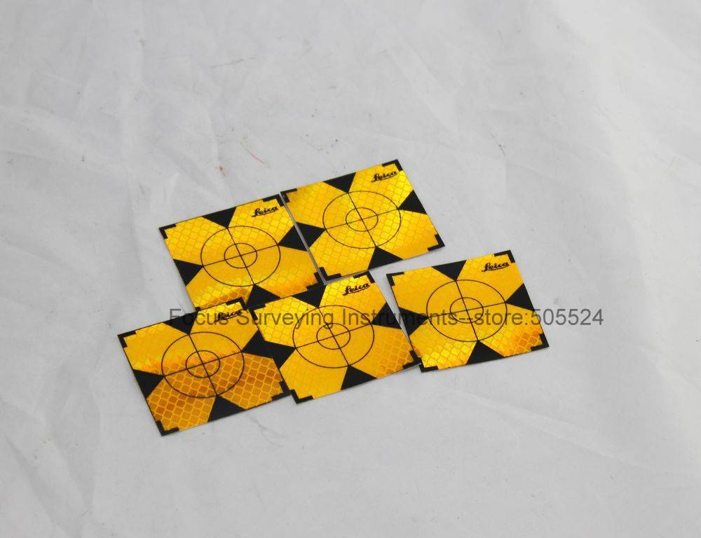 300pcs Yellow Reflector Sheet 20 x 20 mm Reflective Target for Total Station