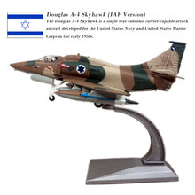 WLTK Military Model 1/72 Scale IAF Douglas A-4 Skyhawk Fighter Diecast Metal MPlane Toy For Collection,Gift,Kids