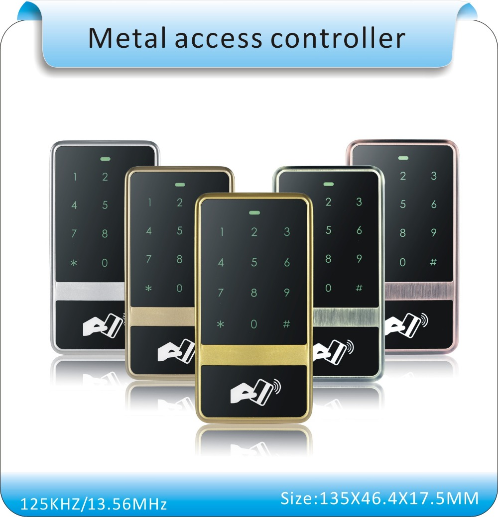 Free shipping high quality metal shell 10 crystal tag+RFID Proximity Card Access Control System RFID/EM Card Access Controller