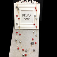 N33 цветы камелии бренд Collier Femme neckless жемчужный ювелирный свитер ожерелье на длинной цепочке женщин