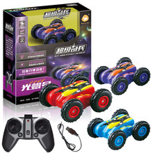 HappyCow RC Car Plastic 3.7V Flashing Ready-to-Go 4 Channels 360 Degrees Rotation Remote Control Buggy 777-606 For Child