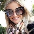 HBK Марка Дизайнер Знаменитости Металл Женщины Негабаритных Cat Eye Солнцезащитные Очки Моды Роскошь Солнцезащитные Очки Женщины Зеркало Объектив Óculos Де Золь