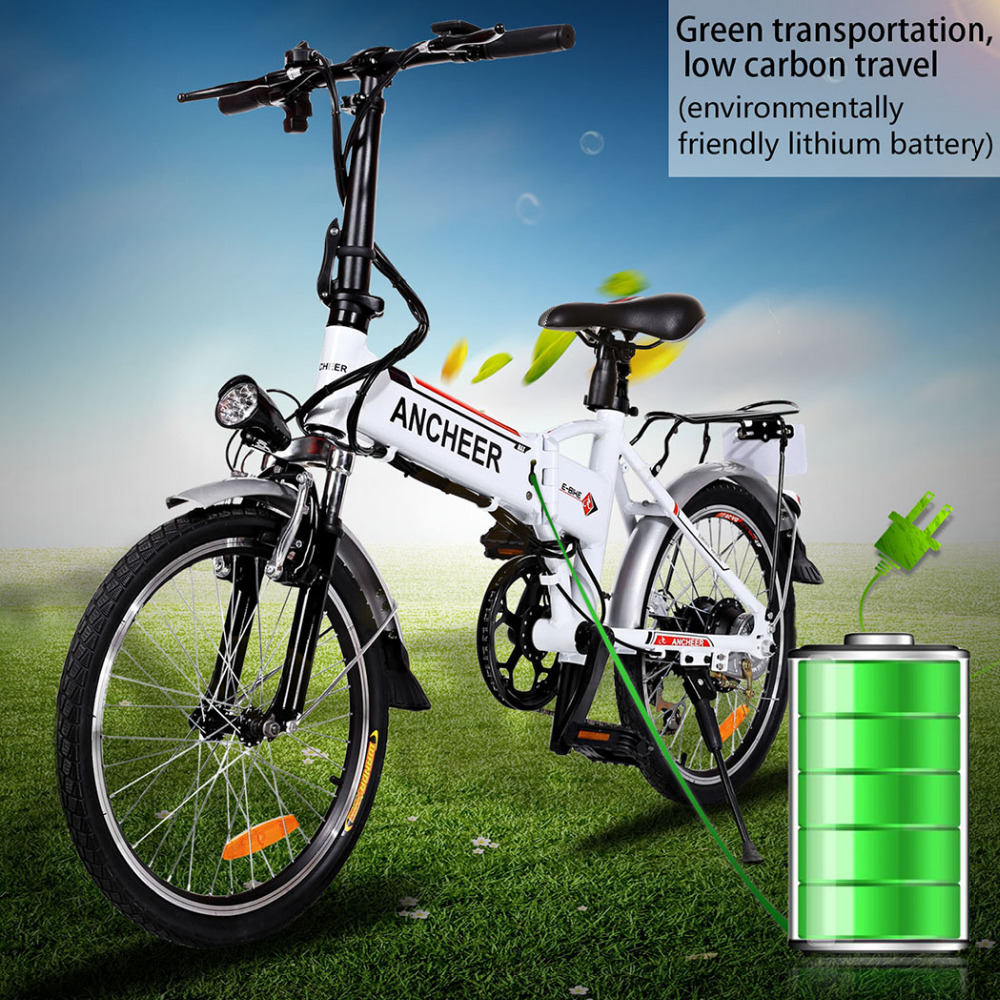 Ancheer 18.7 inch 7 Speed EBike Folding Aluminum Alloy Bike Lithium Battery Electric Bike Bicycle City Cycling Electric Bicycle