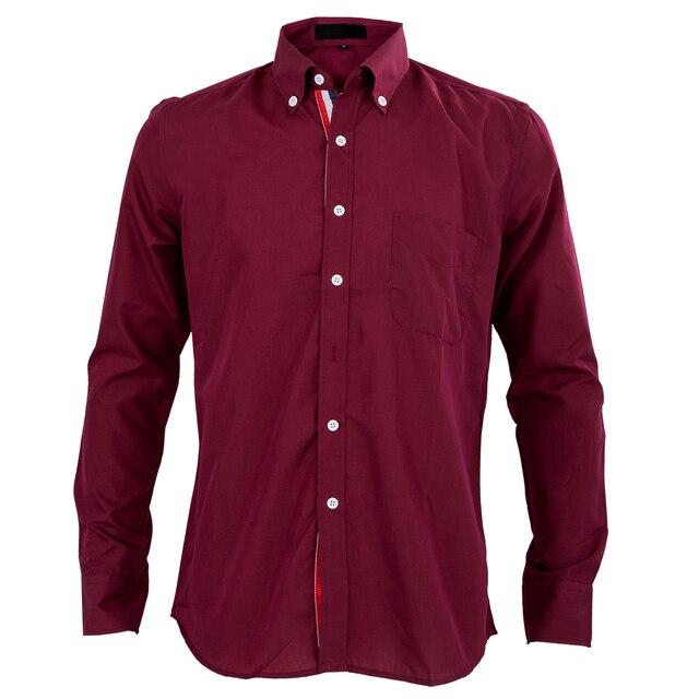 2017 Nuevo vino tinto otoño elegante Camisas para hombres