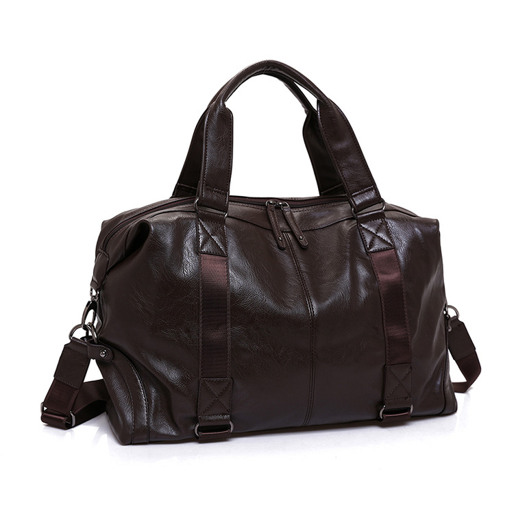 New Luxury Split Leather Travel Bags for Men Large Capacity Portable Male Shoulder Bags Mens Handbags Vintage Travel Duffle Bag