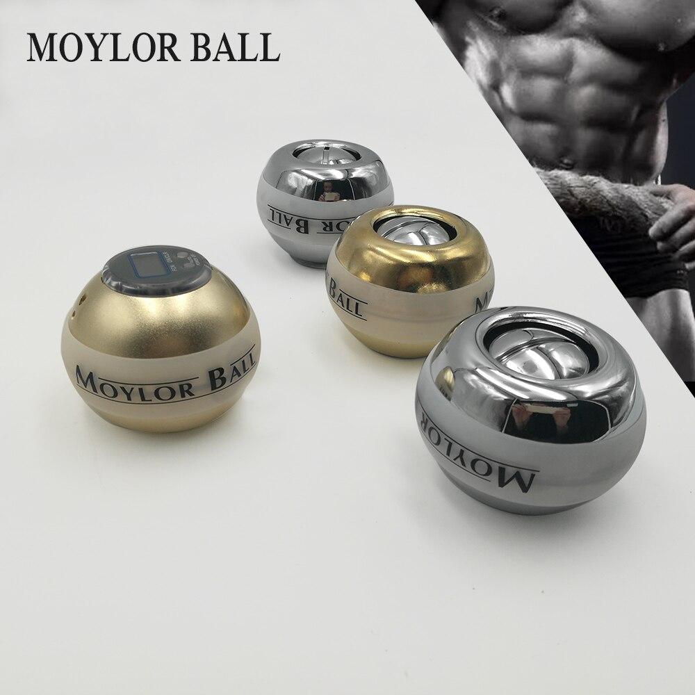 2018 fortalece la bola de la muñeca de la energía de 48LBS el antebrazo de Metal la presión del entrenamiento muscular alivia el ejercicio de la fuerza giroscópica A
