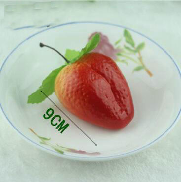 Freeshipping 20pcs 9cm Simulation Fruit Strawberry Fruits Childrenu0027s Kitchen  Decorate Teaching Aid In Artificial Fruits From Home U0026 Garden On  Aliexpress.com ...