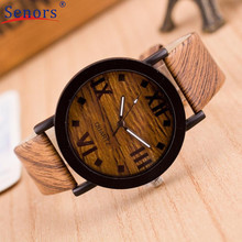 Roman Numerals Wood Leather Band Watches