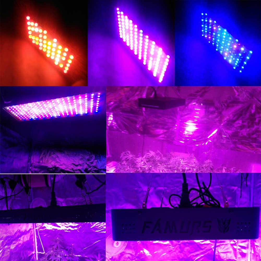 Famurs led grow light с пультом дистанционного управления 1200 вт полный спектр Veg/Цветение таймер группа управления лампа для рассады цветы растения фитолампа