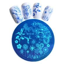 1 шт амулеты ногтей трафареты штамповки шаблон лак печать изображения пластины DIY украшения маникюрные инструменты BESTZA09