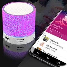 купить OUTMIX Portable Mini Bluetooth Speakers Wireless Hands Free LED Speaker TF USB FM Sound Music For iPhone X Samsung Mobile Phone дешево