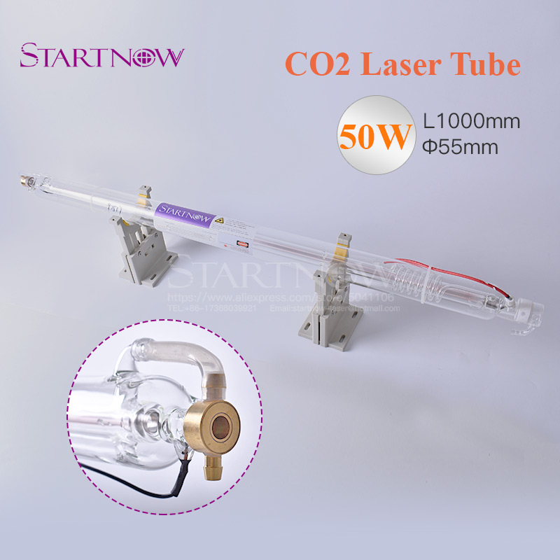 CO2 Glass Tube 50W 1000 mm Dia. 55mm CO2 Laser Tube For Laser Carved Chapter Engraving Marker Cutting Machine Equipment Parts