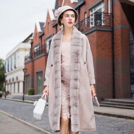 Luxurious High-end Mink Fur Slim Fashion Women Fur Coat 2018 Winter Long Length Female ...