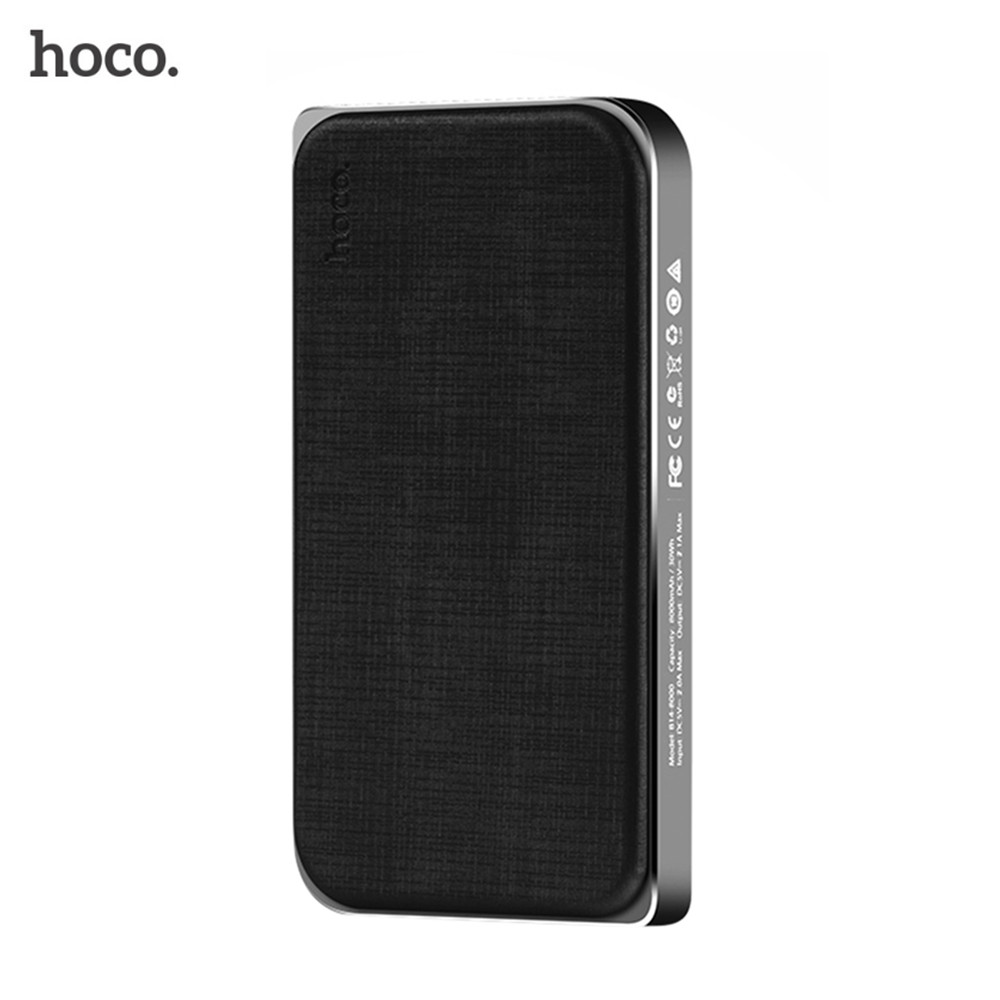 8000mAh Original HOCO Power Bank with Large Capacity Mobile External <font><b>Battery</b></font> Pack Universal Charger for <font><b>Cellphone</b></font>