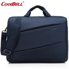 17.3 Inch Nylon Laptop Bag Waterproof Notebook Computer Bag Big Capacity Messenger Bag Men Women Briefcase Business D0304