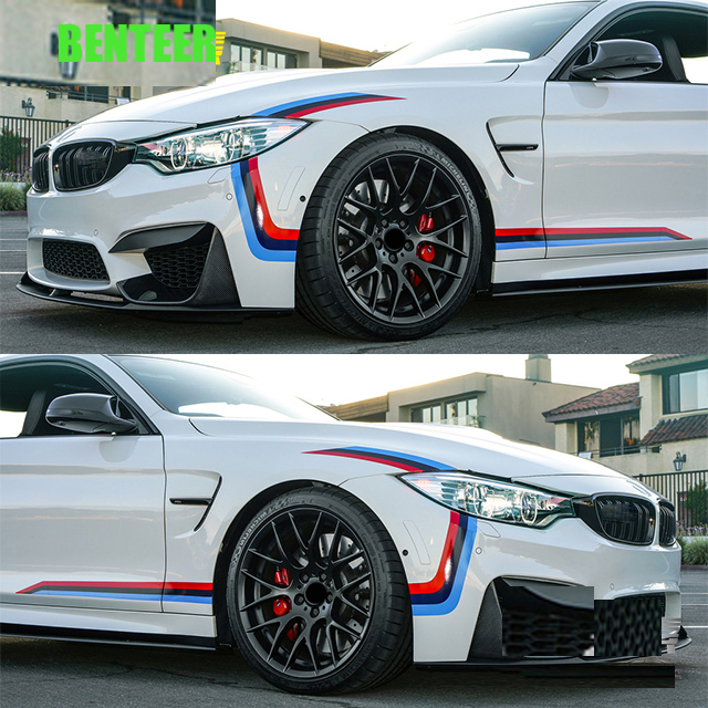 1set M Power Performance Car Sticker For BMW M3 M4 M5 E90 E60 F30 F10 320 328 330 520 E36 E70 116 118 120 320328 330 520 525 530