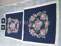 Free shipping needlepoint woolen chair, royal french style ompleted hand stitched needlepoint tapestry chair cover