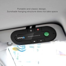 цена на Multipoint Speakerphone 4.1+EDR Wireless Bluetooth Handsfree Car Kit MP3 Music Player for IPhone Android Dropship Hot