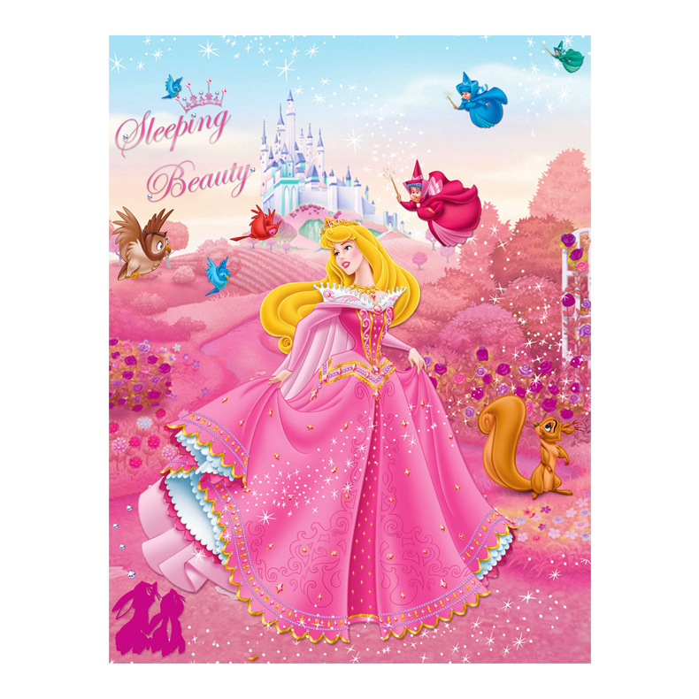 5D DIY Diamond Painting Cross Stitch Princess Aurora Cartoon Characters Decor Embroidery Butterfly Girl Full Diamond