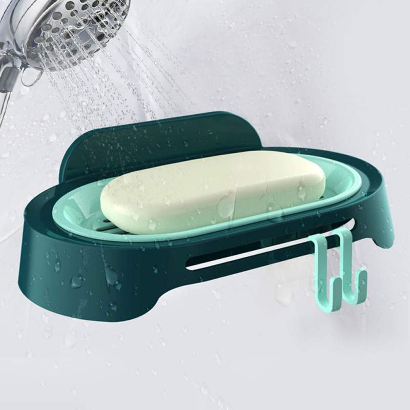 Bathroom Punching free Soap Box Dish Storage Plate Tray Holder Case Soap Holder Bathroom Tray Accessories Box Shelf Wall Dishes in Portable Soap Dishes from Home Garden