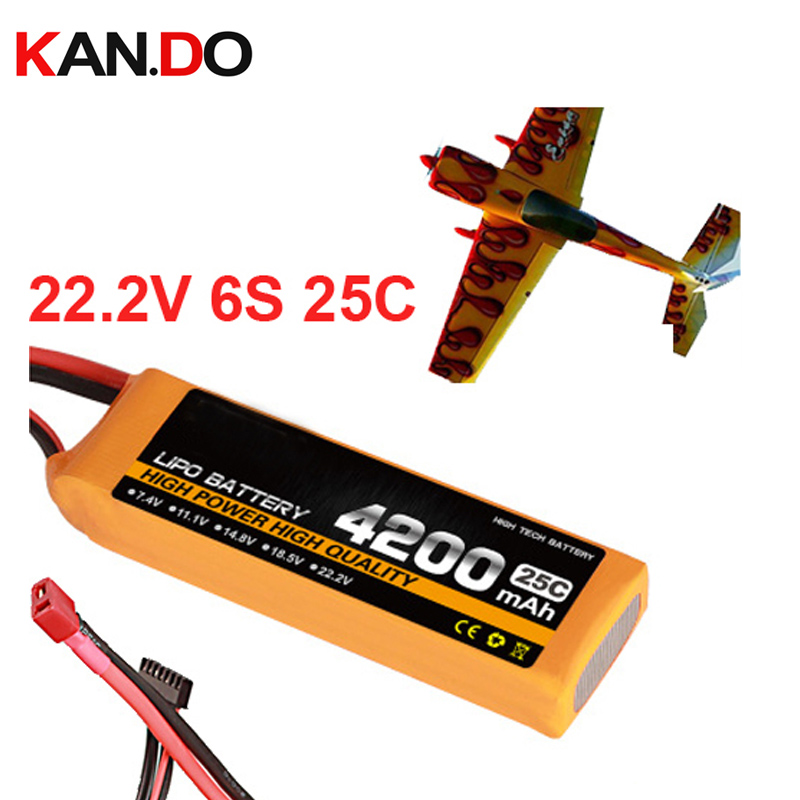 6s 25c 22 2v 4200mah airplane model battery 25C aeromodeling battery model aircraft lithium polymer battery