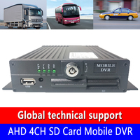 Factory wholesale AHD 4CH SD Card Mobile DVR h. 264 video code bus/truck/school bus local video monitoring host