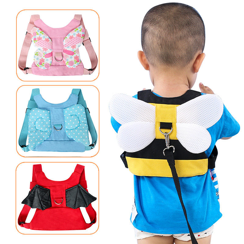 Baby Anti-lost Safety Harness Strap Baby Walker Anti-lost Harness Wings Baby Leash For Learning Walking Child Traction Safe Belt