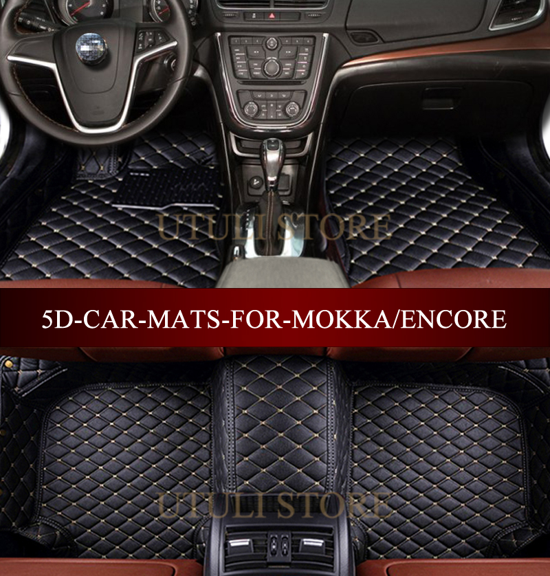 Tappetini Auto in pelle per Vauxhall Opel Mokka X/Buick Encore/Chevrolet Trax custom fit all weather tappeto piano del piede stuoie