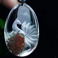 Цветок натуральный призрак кристалл Подвески ручной работы девять хвостов Лиса свитер цепи цепочки и ожерелья Lucky для женщин мужчин