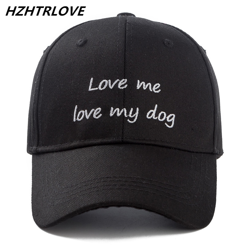 High Quality Cotton Letter Love Me Love My Dog Snapback Cap For Men Women Hip Hop Dad Hat Baseball Cap Bone Gorras aetrue winter beanie men knit hat skullies beanies winter hats for men women caps warm baggy gorras bonnet fashion cap hat 2017