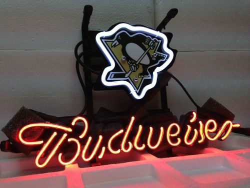 Pittsburgh Penguins Hockey Budweiser Beer Bar Neon Light Sign If181 In Advertising Lights From Lighting On Aliexpress Alibaba Group