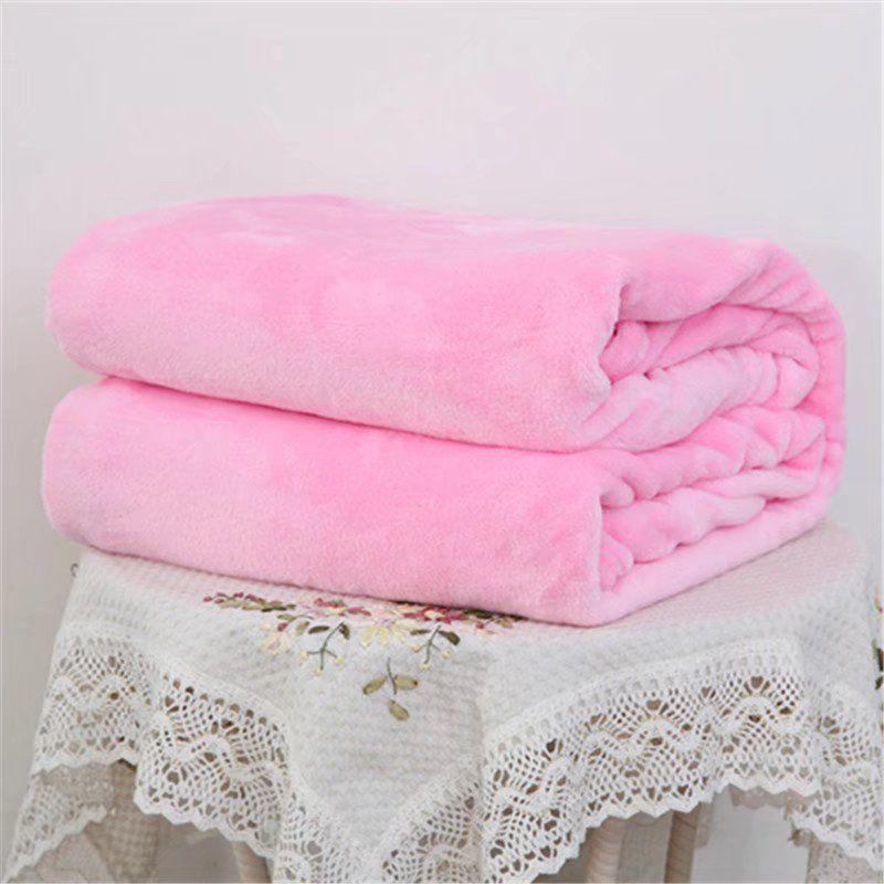 Lente Flanellen Deken Winter Warme Zachte Laken Thuis Textiel Effen Voor Sofa Bed Gooit Home Decor Voor Baby Huisdieren 2a0329