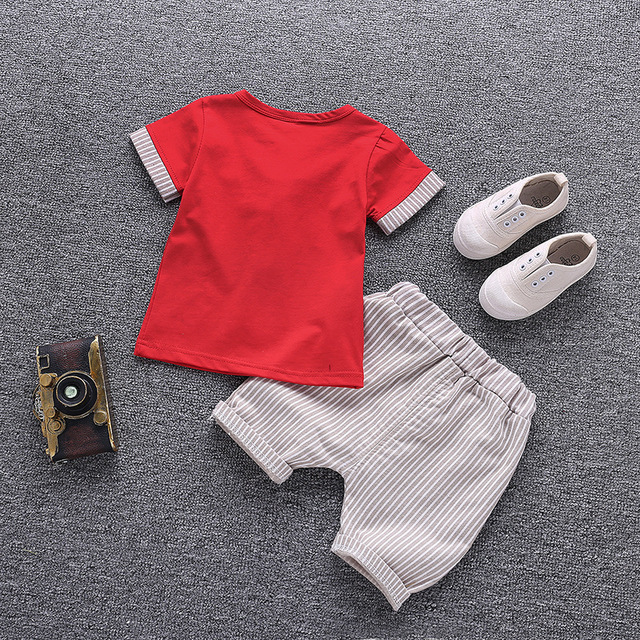 2-Piece Gentlemen Style Top with Pants Set for Baby and Toddler Boy
