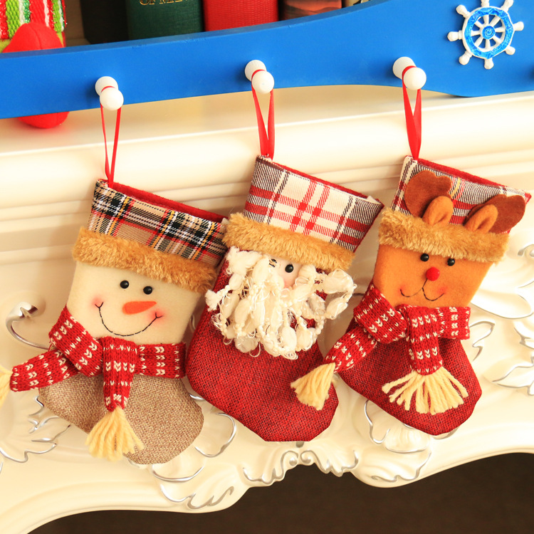 Gift for New Year Christmas Decor Party Decorations Santa Claus Christmas Stocking Candy Socks Christmas Gifts Bag for Home -25