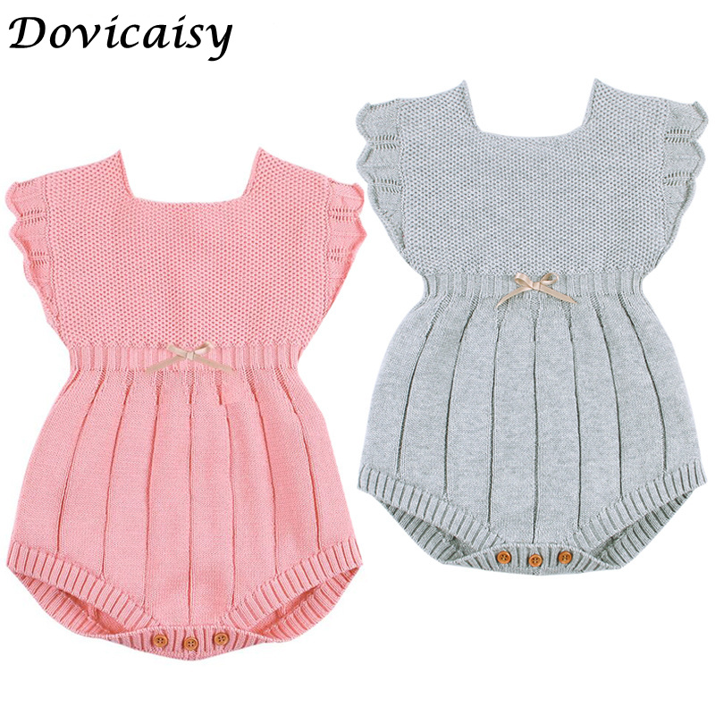 Newborn Baby Romper Princess  Girls Baby Clothes Knitted Baby Rompers Sweater Autumn Infant Baby Boy Jumpsuit Overalls