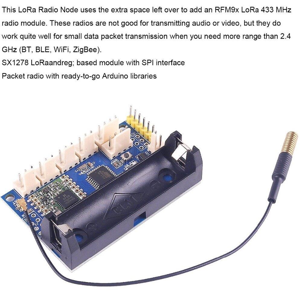5pcs LoRa Radio Node V2 0 Based on Sx1278 LoRa IOT 433Mhz 2 4G RFM98 for  Arduino ATmega328P uFL Antenna FZ3043 RCmall