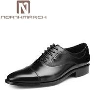 Northmarch современный нежный Для мужчин формальные Обувь шнурованная для женщин Пояса из натуральной кожи человек Свадебная вечеринка Для муж