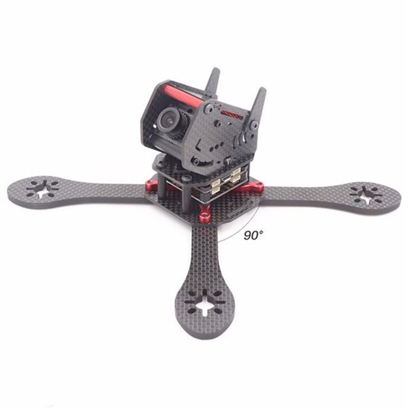 High Quality GEPRC GEP-ZX5 190mm 3K Carbon Fiber Frame Kit with 12V 5V PDB Board For RC Multicopter geprc gep zx4 gep zx5 gep zx6 170mm 190mm 225mm 4 axis 3k carbon fiber frame kit with 12v 5v pdb board for rc multicopter