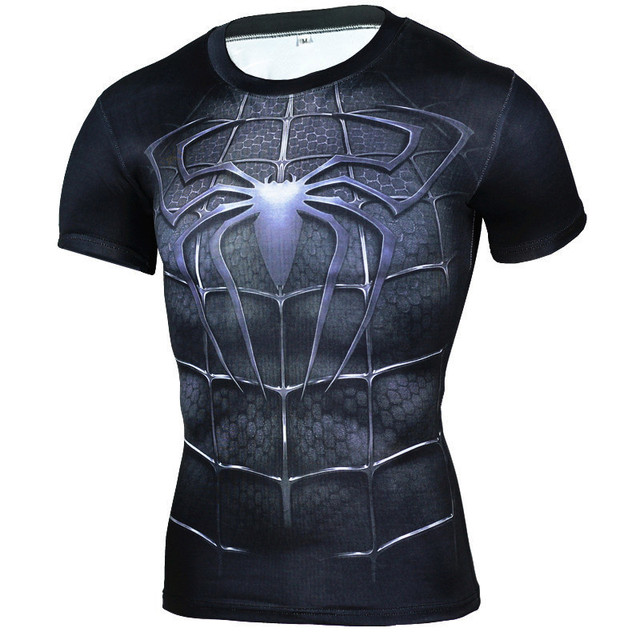 Compression Shirt Brand Clothing T shirts Crossfit T-shirt Men Casual Short Sleeve Superhero Homme Fitness Tops Camiseta MMA