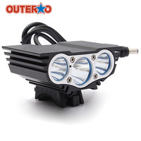 OUTERDO Aluminum Alloy 6000Lm XM L U2 LED Bike Head Front Light Headlamp Headlight Cycling Frame