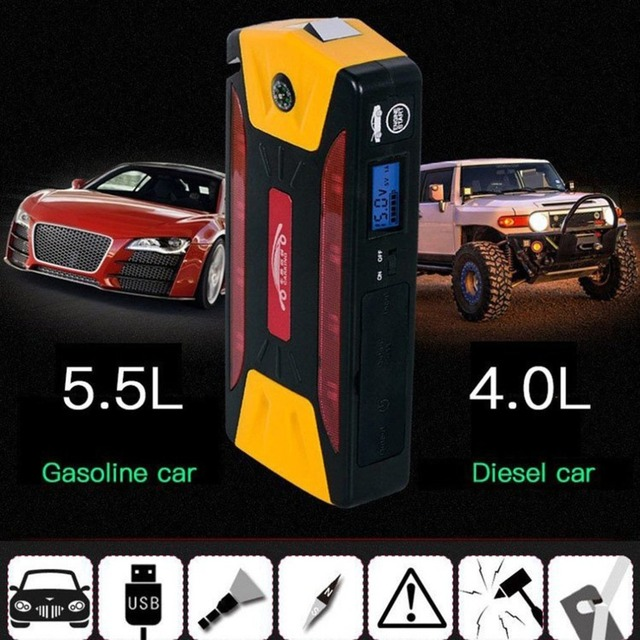 Mini Portable 82800mAh Pack Car Jump Starter Multifunction Emergency Charger Booster Power Bank Battery 600A UK Plug