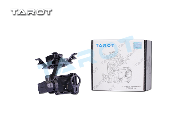 free shipping Tarot T4-3D 3-axis brushless gimbal TL3D01 for GOPRO4/GOpro3+/Gopro3 support FPV mode tarot tl3t01 update from t4 3d 3d metal 3 axis brushless gimbal for gopro 4 3 for gopro3 fpv photography f17391