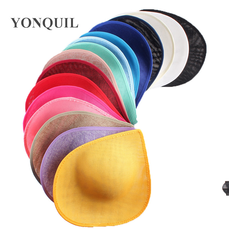2019 New Arrival Multiple Colors 30 Cm Derby Hair Hat Fascinator Base Wedding Party Church Banquet Hair Accessory 5pcs/lot SYB05