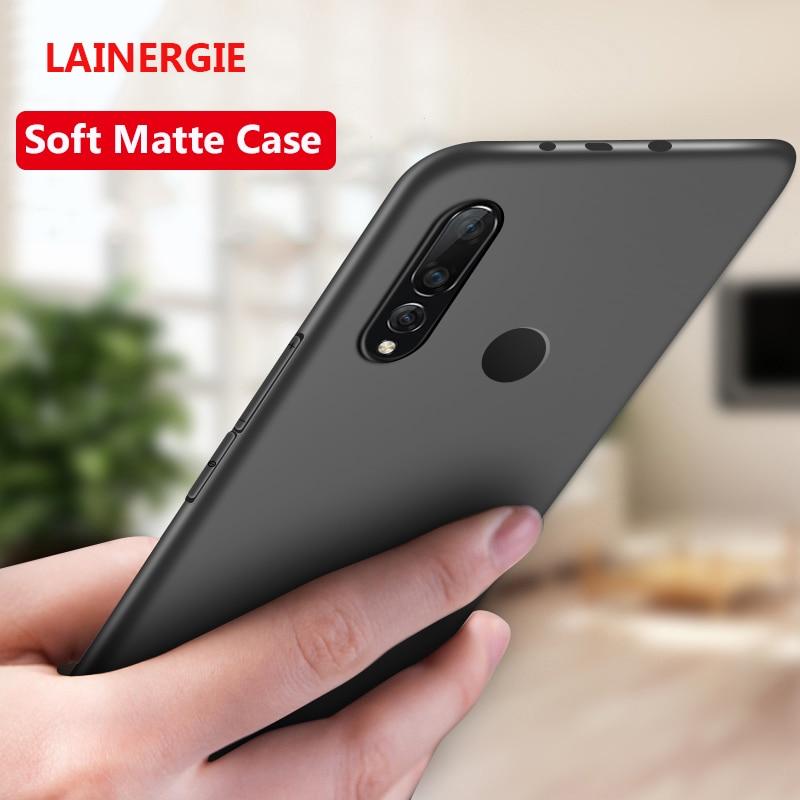 """Lainergie para el caso de Huawei P Smart Z 6.59 """"Pulgadas Simple Mate Sólido Suave Cubierta de silicona para teléfono Fundas para huawei Y9 Prime 2019"""