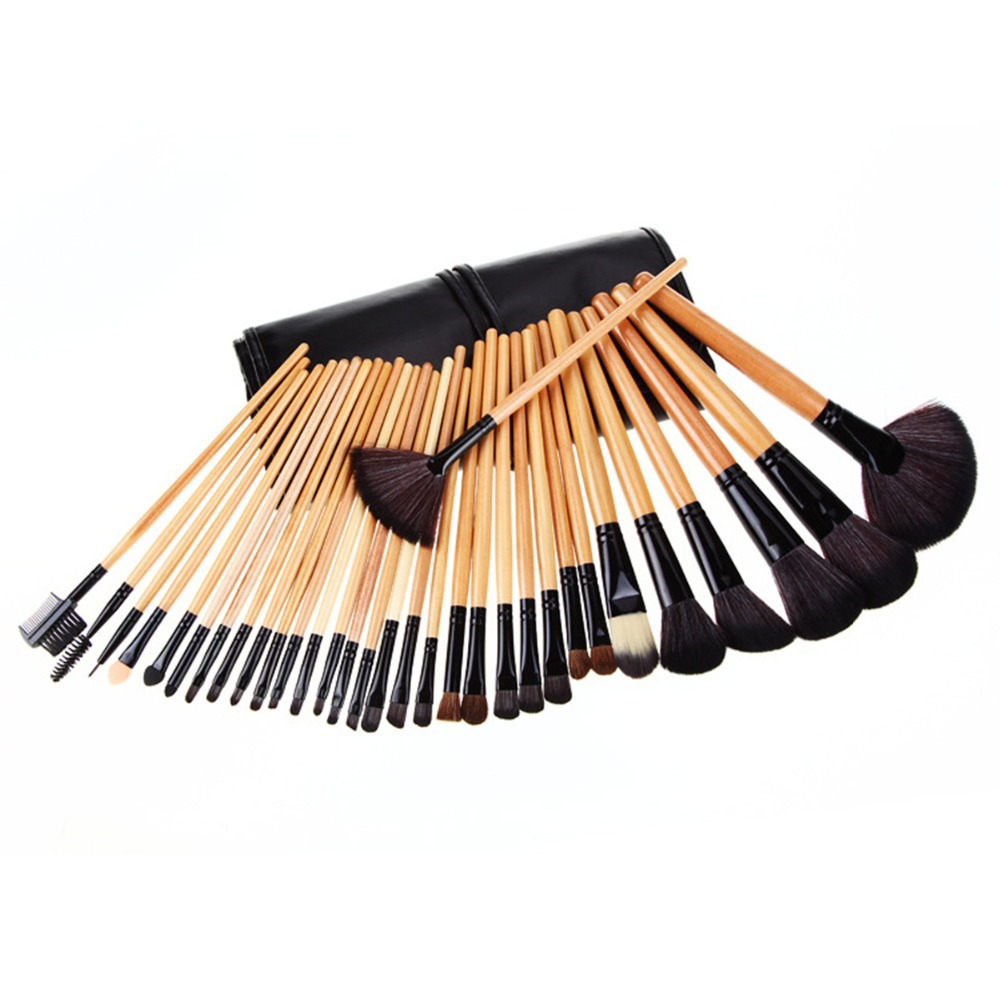 32Pcs Makeup Brushes Superior Soft Horse Hair Cosmetic Makeup Brush Set Kit+Pouch Bag Case Woman Make Up Tool Pincel Maquiagem 60 hanks stallion violin horse hair 7 grams each hank 32 inches in length