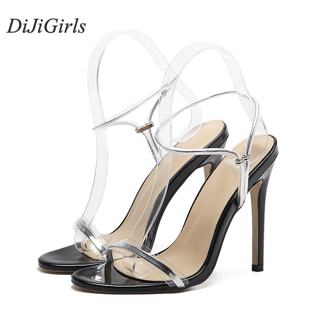 DiJiGirls New Summer Fashion Style women s high heels sandals ladies  celebrity Glitter Concise shoes woman sandals US5-9 a048f485804d